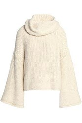 Alice Olivia Alpaca Blend Turtleneck Sweater Off White Off White
