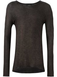 Avant Toi Raw Edge Jumper Brown