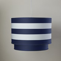 Oilo Striped Cobalt Double Decker Cylinder Light Blue White