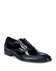 Tallia Jiovanni Leather Oxfords Black Navy