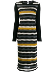 M Missoni Zig Zag Knitted Dress Black