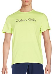 Calvin Klein Logo Graphic Tee Neon Yellow
