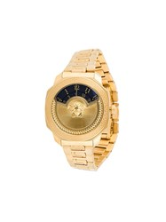 Versace 'Dylos Icon' 38Mm Watch Metallic