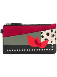 Paula Cademartori Zipped Card Holder Love Red