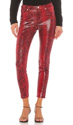 Blank Nyc Blanknyc Vegan Leather Firehouse Pant In Red.