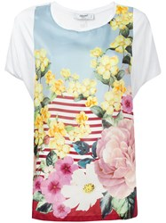 Blugirl Floral Top White