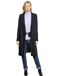 Each X Other Pinstriped Wool Coat