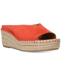 Franco Sarto Pine Slip On Espadrille Wedge Mules Women's Shoes Orange