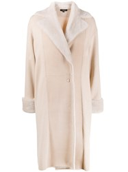 Antonelli Panelled Oversized Coat Neutrals