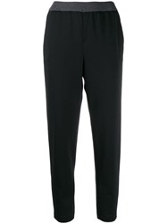 Fabiana Filippi Side Stripe Trousers Black