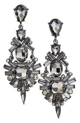 Women's Tasha Chandelier Earrings Hematite Black