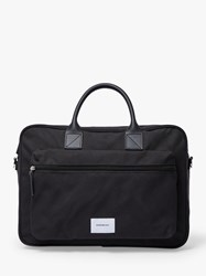 Sandqvist Emil Organic Cotton Crossbody Briefcase Black