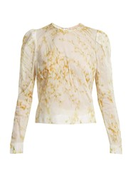 Brock Collection Babette Sweet Pea Print Blouse White Print