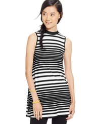 Eyeshadow Juniors' Sleeveless Striped Tunic