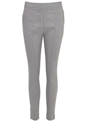 Crea Concept Grey Stretch Linen Trousers