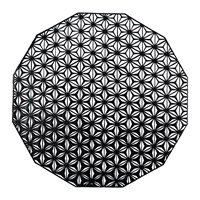 Chilewich Pressed Vinyl Kaleidoscope Round Placemat Black
