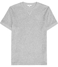 Reiss Terry Terry Towelling Crew Neck T Shirt In Grey