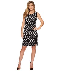 Tribal Pack And Go Travel Jersey Printed Sleeveless Dress With Inside Contrast Slip Night Women's Dress Black
