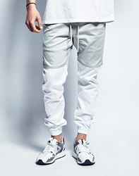 Publish Two Tone Joggers In Grey White