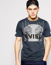 Evisu T Shirt Tattoo Photo Logo Print Black