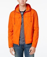 Tommy Hilfiger Men's Seaport Windbreaker Jacket Como Orange