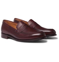 Cheaney Hadley Suede Penny Loafers Burgundy