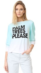 Wildfox Couture Palm Trees Please Iced Mint