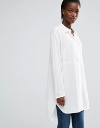 French Connection Empire Dot Oversized Shirt Summer White