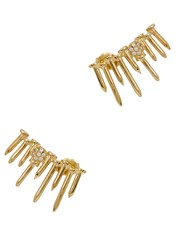 Joanna Laura Constantine Pin Embellished Gold Plated Earrings