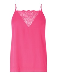 Samsoe And Samsoe Lace Vest Top Pink