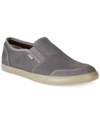 Clarks Torbay Slip On Shoes Men's Shoes Dark Grey