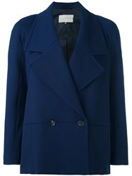 L'autre Chose Double Breasted Blazer Blue