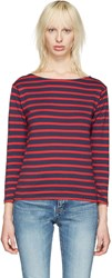 Saint Laurent Navy Striped Marlon T Shirt