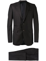 Gucci Polka Dot Two Piece Suit Men Cupro Viscose Wool 52 Black