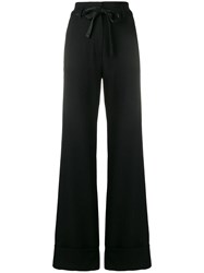 Ann Demeulemeester Flared Tailored Trousers Black