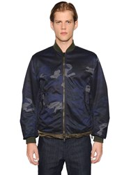 Moncler Graf Reversible Camo And Nylon Jacket