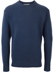Marni Crew Neck Sweater Blue
