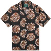 Gitman Brothers Vintage Camp Collar Medallion Kalamkari Shirt Black