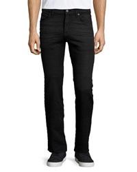 7 For All Mankind Rouge Melange Knit Denim Jeans Black
