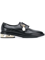 Coliac Pearl Pierced Loafers Black