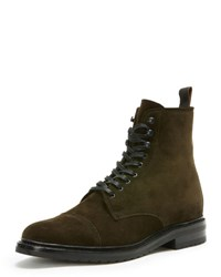 Frye Men's Officer Lace Up Boot Green
