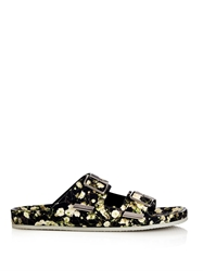Givenchy Swiss Floral Print Leather Sandals