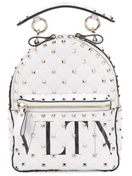 Valentino Rockstud Small Backpack White