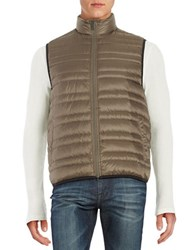 Michael Kors Channel Quilted Vest Taupe