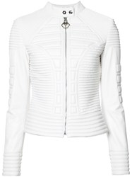 Philipp Plein Ribbed Jacket White