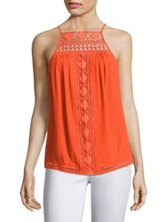 Ramy Brook Wendy Crochet Tank Top Tiger Lily