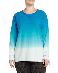 Marc New York By Andrew Marc Ombre High Low Dolman Sleeve Sweatshirt Skydiver