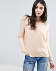 Noisy May Chen Boatneck Jumper Pale Peach Pink
