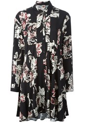 I'm Isola Marras Floral Print Flared Shirt Black