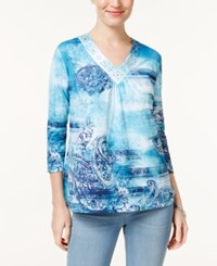 Alfred Dunner Adirondack Trail Paisley Top Multi